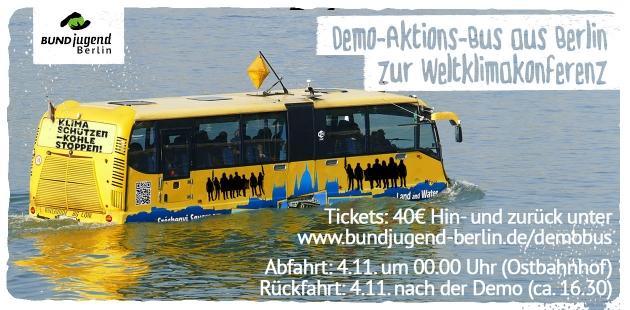 Bus zur Demo